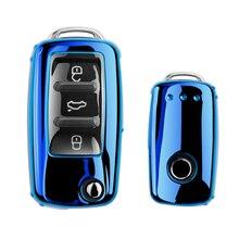 цена на Soft TPU Car key case for Volkswagen VW GOLF 4 5 6 7 GTI MK7 POLO magotan Passat B8 B5 B6 B7 Tiguan 2018 Accessories Durable new