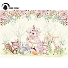 Allenjoy פראי אחד רקע יום הולדת תינוק מקלחת מסיבת יער חיות ג ונגל פרחים סטודיו Photophone צילום רקע