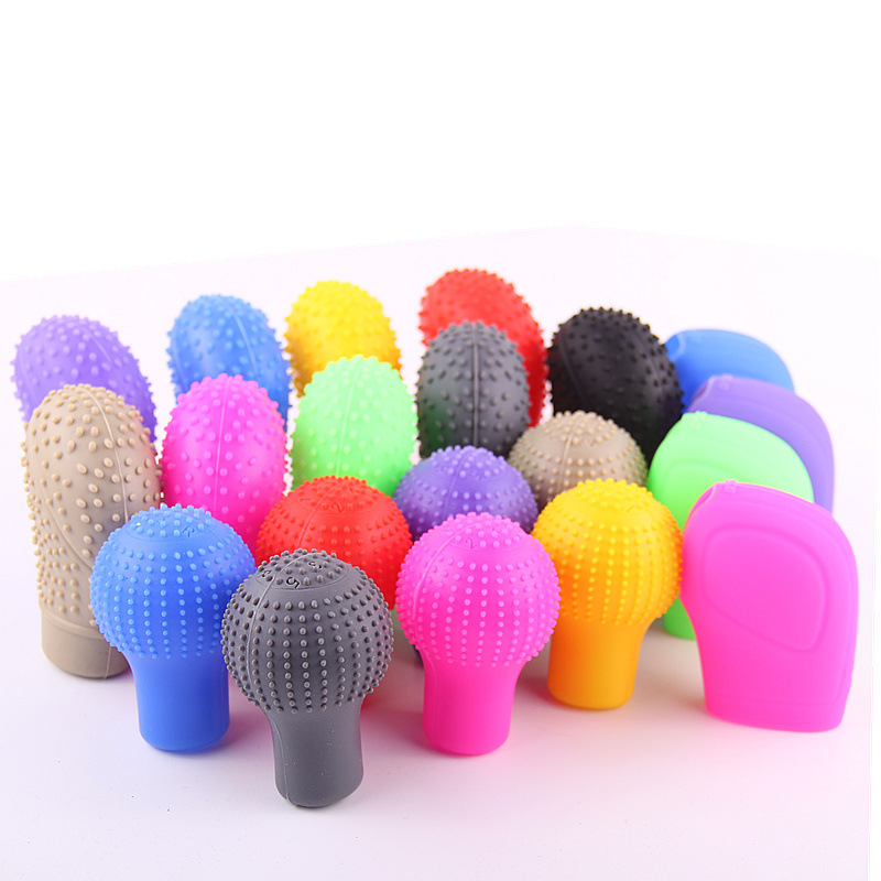 Car Silica Gel Automatic Case Car Gear Cover Manual Gear Lever Knob Universal Shift Knob Cover Dust Cover