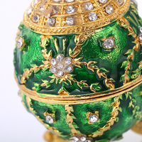 Flower Faberge Egg Box with Crystals Collectible Easter Egg Keepsake Box Jewelry Case