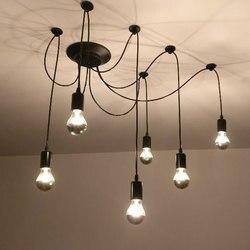 6 u nas państwo lampy Retro lampa sufitowa światła żyrandol w stylu Vintage Loft antyczne regulowany