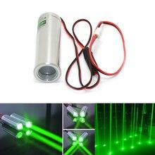 שומן Beam 532nm 50mW ירוק לייזר דיודה מודול עבור KTV בר DJ שלב תאורה