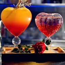 Tasse en verre transparente créative en forme de cœur de 200 à 240ml, pour Cocktail, bière, Vodka, décorations pour Bar, Restaurant, Club, verres