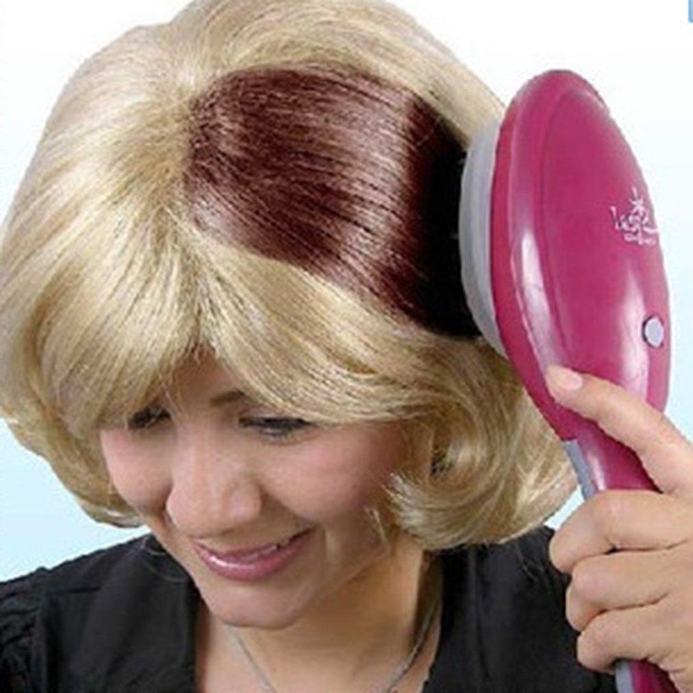 Электрическая окрашивающая расческа для волос профессиональная окрашивающая щетка для волос для дам Укладка волос расческа Инструменты для укладки волос для салона Расчески      АлиЭкспресс