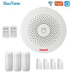 GauTone Wifi Smart Home Alarm System 433MHz Burglar Security Alarm Tuya Smart Life app Control Wireless Home Alarm