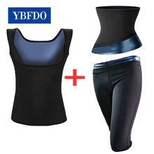 Ybfdo shapewear ternos para mulheres suor sauna calças perda de peso cintura trainer espartilho colete ginásio fitness workout topos emagrecimento cinto