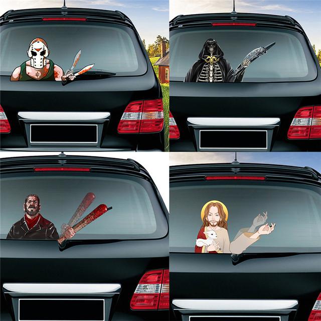 Horror Car Rear Windshield Stickers