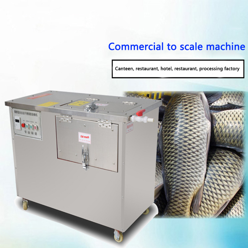 XZ-710 Type Automatic Remove Fish Scale Machine Electric Scraping Fish Scale Maker Commercial Stainless Steel Fish Scale Scraper