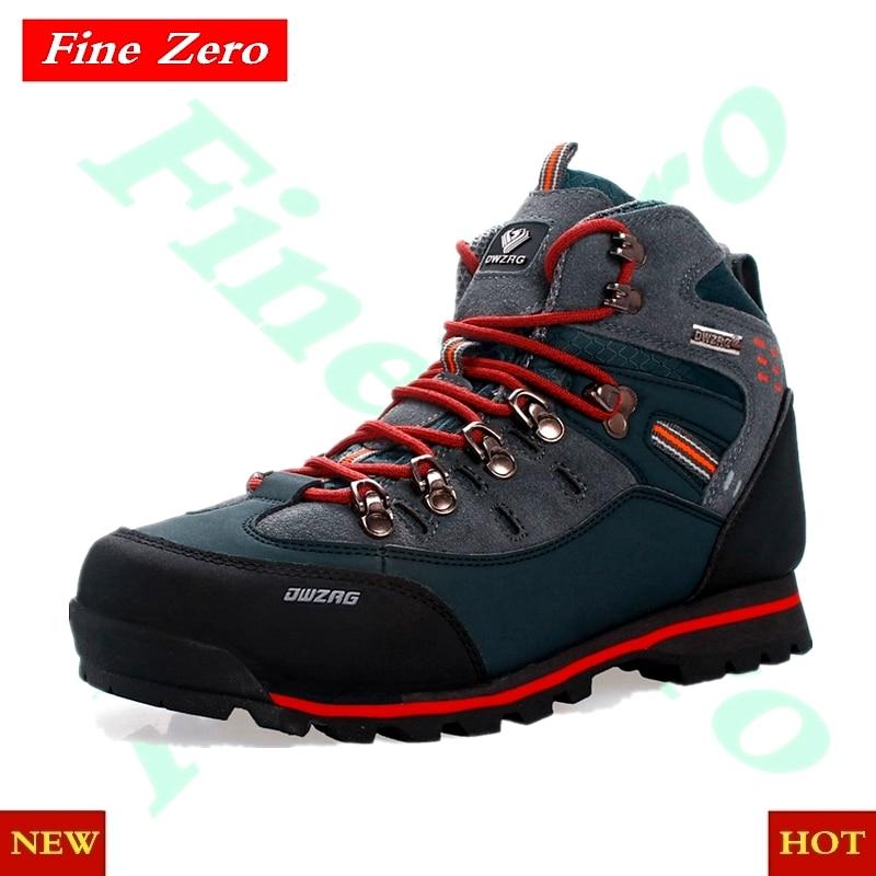 New Quality Waterproof Hiking Shoes Non-slip Wear Mountain Climbing Shoes Outdoor Hiking Boots Men Hunting Trekking Sneakers Men