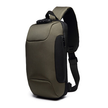 Oxford Cloth Crossbody Anti Theft Code Lock Camping Hiking Men Chest Bag Running Travel Adjustable Strap Waterproof Cycling