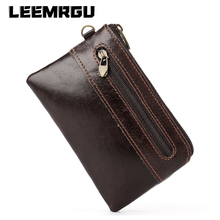 Men's Ladies Fashion Retro Leather Leather Coin Purse Card Holder Slim Handle Short Zipper Coin Mini Small High capaciCoin Purse