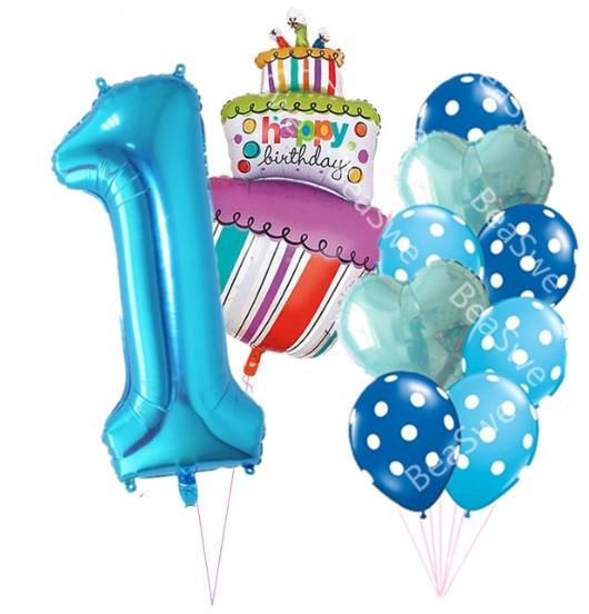 Prime 40 Inch Pink Blue Number 1 2 3 4 5 Year Old Birthday Cake Balloons Funny Birthday Cards Online Benoljebrpdamsfinfo