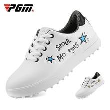 Pgm Chidlren/модные белые туфли для гольфа; Водонепроницаемая Обувь для девочек и мальчиков; обувь для гольфа на мягкой нескользящей подошве; спортивные кроссовки для гольфа; D0757