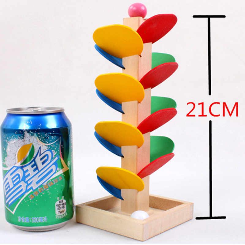 Holz Baum Marmor Ball Run Track Spiel Baby Kinder Kinder Intelligenz Pädagogisches Spielzeug
