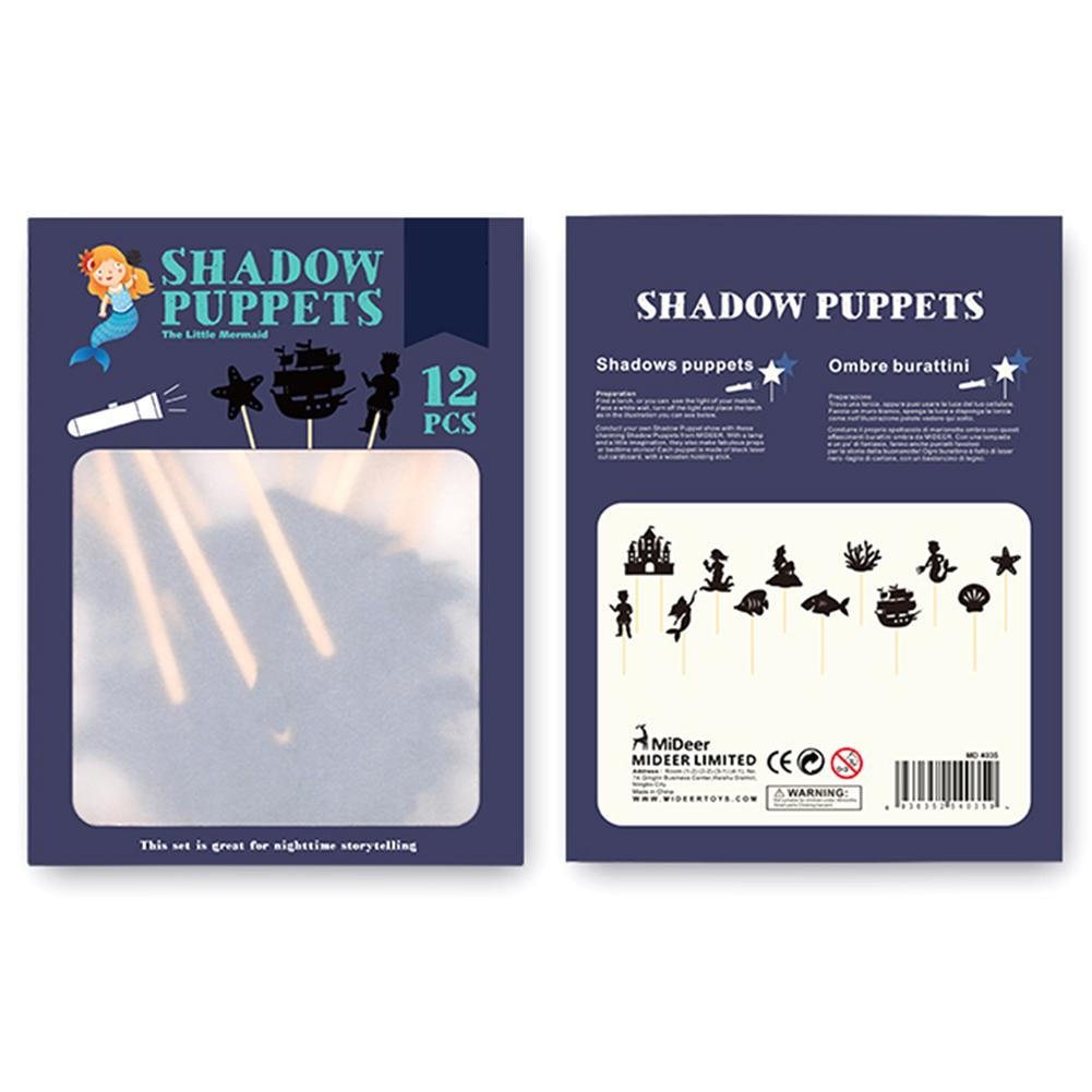 Children Shadow Puppets Toy Educational Silhouette Game Interesting Shadow Picture Toy Parent-child Interaction Cognition Game