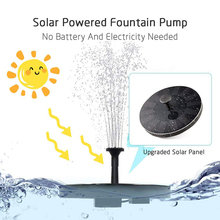 New Solar Garden Fountains  Solar Garden Fountain Pump Waterfalls Power Solar  Fountain Powered Water Pump Birdbath Fountain 7v solar powered fountain water pump connect tube with nozzles solar birdbath fountain pump for garden waterfalls pond fish tank