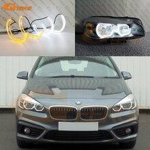מצוין יום אור DTM M4 סגנון Ultra בהיר led מלאך עיניים DRL halo טבעות עבור BMW 2 סדרת F45 F46 2013 2018 הלוגן פנס