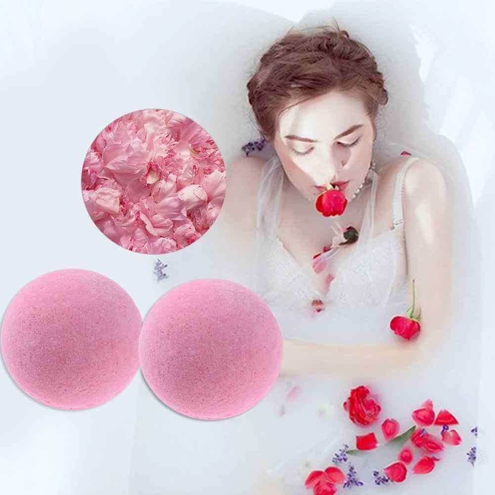 1 adet banyo tuzu topu derin deniz banyosu tuz vücut gül uçucu yağ vücut cilt beyazlatmak Relax stres giderici doğal kabarcık duş bombaları