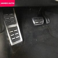 Jameo otomatik paslanmaz çelik araba dinlenme ayak pedalı gaz pedalı fren pedalı kapak Audi A4 B8 S4 RS4 2008 -2016 LHD parçaları