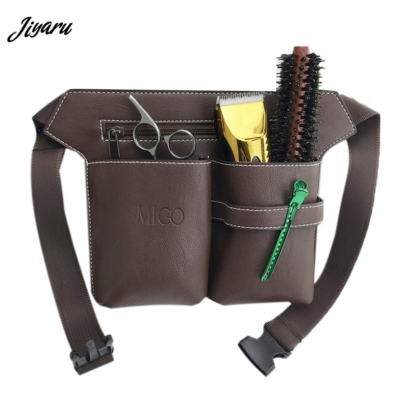 Jiyaru Hot Sale Barber Hair Styling Tools Waist Pack Hair Scissors Comb Bag Hair Scissors Bags Hairdressing Tool Hairpin Holders