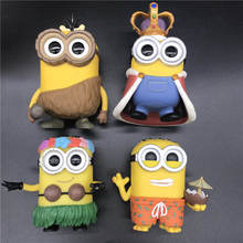 Movies Minions Paradise Minion Phil CRO MINION HULA KING BOB model toy  Vinyl Action Figures Collectible Model Toy