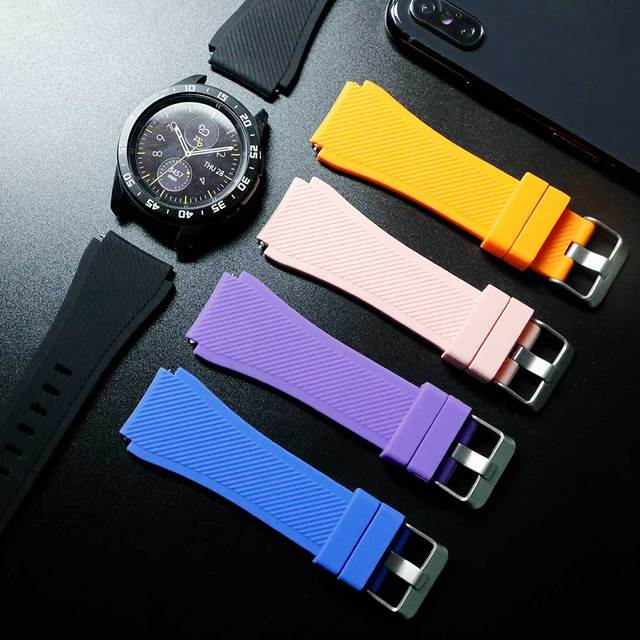 Gear S3 Frontier band for Samsung Galaxy watch 46mm 42mm  strap 22mm 20mm Silicone watchband Bracelet Huawei watch GT strap S3 1
