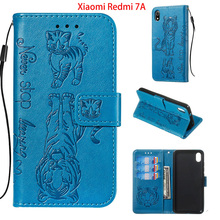 Cat & Tiger Flip Leather Cases For Xiaomi Redmi 7A K20 PRO MI 9T Pro Cover on Note 7 Case Wallet Book Bag