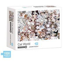 Rompecabezas de 1000 piezas de gatos para niños y adultos, juguete educativo
