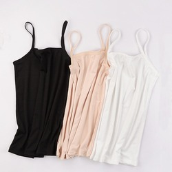 2020 New Women's Plain Sleeveless Top Ladies Stretch Strappy Camisole Vest Bottoming Shirts Nude Black White Lady Tank Top Vests
