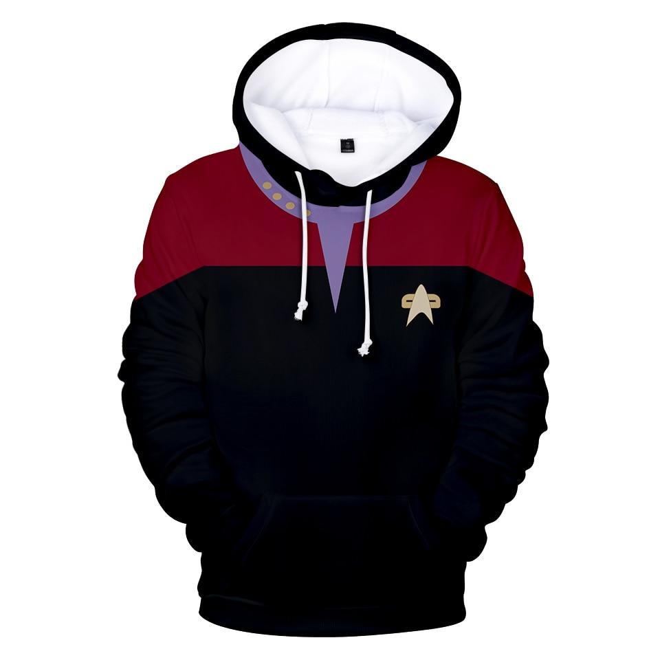 Hot Sale Movie Star trek Hoodies 3D Sweatshirts Long Sleeve Clothes Star trek cosplay hoodies Plus Size Men/Women streetwear top(China)
