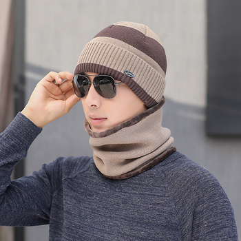 GJ3117 wool Scarf Hats Winter Beanies Soft For Mens Black Warm Breathable Wool Knitted Winter Hat Letter Double Layers Caps solid soft winter pompoms hats for women knitted hats for girls wool big ball caps casual black beanies warm hat gorrses