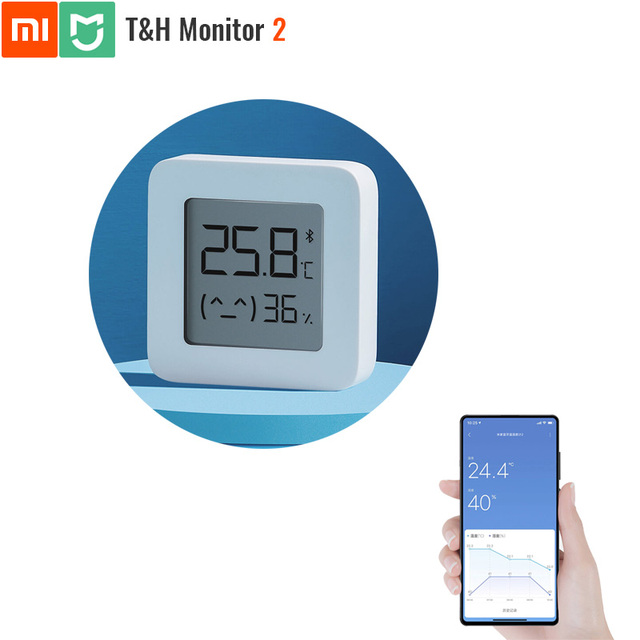 Original Xiaomi Mijia Bluetooth Temperature and Humidity Monitor 2 Thermometer Hydrometer T&H HT Smart Home Super Long Standby