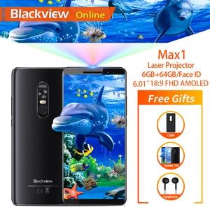 """Image 1 - Blackview ماكس 1 6.01 """"العارض الهاتف المحمول 6GB + 64GB FHD AMOLED الروبوت 8.1 المحمولة المسرح المنزلي الفيلم العارض 4G الهاتف الذكي"""
