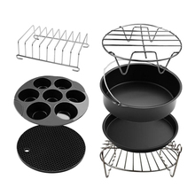 Air Fryer Accessories, Set of 7, Fit all 3.5-5.3 QT Air Fryers Dishwasher Safe
