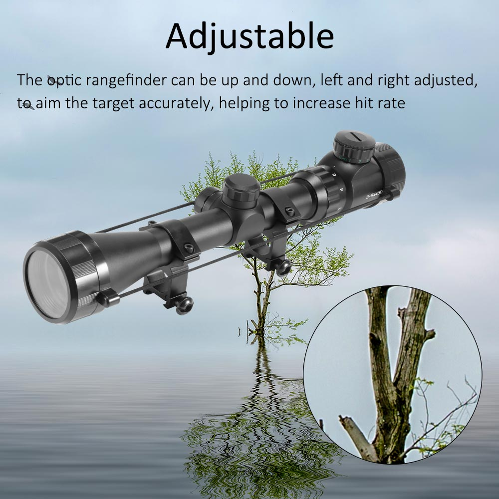 3-9x40 Optic Scope Red Green Rangefinder Illuminated Optical Sniper Rifle Scope Hunting Scopes Riflescope