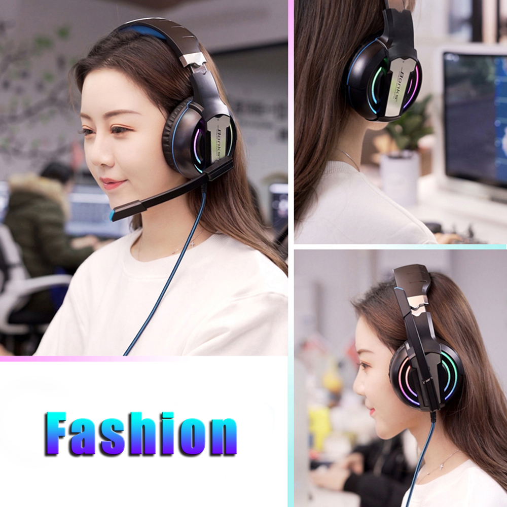 Gaming Headset Headphones with Microphone Light Surround Sound   Bass Earphones For PS4 Xbox One Professional Gamer PC Laptop 5