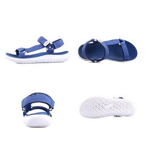 Image 3 - GRITION נשים חיצוני מהיר ייבוש שטוח סנדלי גבירותיי רך אור משקל חוף סנדלי אופנה קיץ מזדמן הליכה נעלי כחול