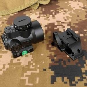 Con kill flash 1X25 MRO Reflex-Style 2,0 MOA, ajustable, mira telescópica de punto rojo, compatible con riel picatinny-Negro