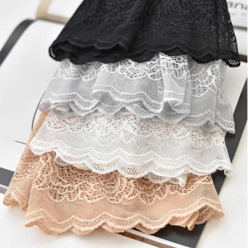 Кружевные плотные трусы с высокой талией, дышащее тонкое нижнее белье Панталоны, сексуальные шорты под юбку, повседневные Летние Трусы-шортики