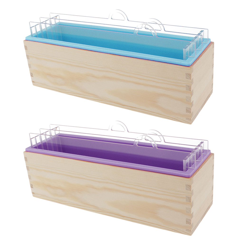 Jabón pan silicona molde divisores de tablero de acrílico caja de madera para bricolaje jabón herramienta de fabricación