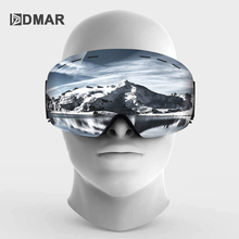 Ski goggles UV400 spherical double layers anti fog Protection keep warm big lenses snow glasses  snowboard goggles snow goggles