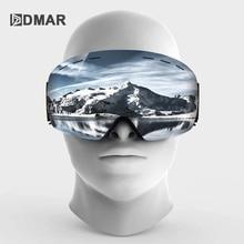 Skibril UV400 Sferische Dubbele Lagen Anti Fog Bescherming Warm Houden Grote Lenzen Sneeuw Bril Snowboard Sneeuwbril