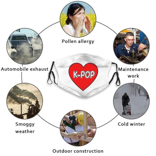 I Love K - Pop Face Mask With Filter Kpop K Pop I Love K Pop K Pop Lover Korean Pop Music Pop Music Music Lover K Pop Fan K Pop 5
