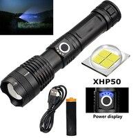 500000 люменов 5 режимов светодиодный USB Перезаряжаемый мощный прочный 18650 аккумулятор фонарик SOS уличный фонарь