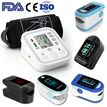 pulse oximeter Digital Finger Saturation SpO2 Heart Rate Monitor Meter & Digital Tonometer Blood Pressure Monitor Arm Band Type