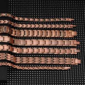 Vinterly Magnetic Bracelet Men Pure Copper Energy Health Male Chain Link Vintage Bracelets & Bangles