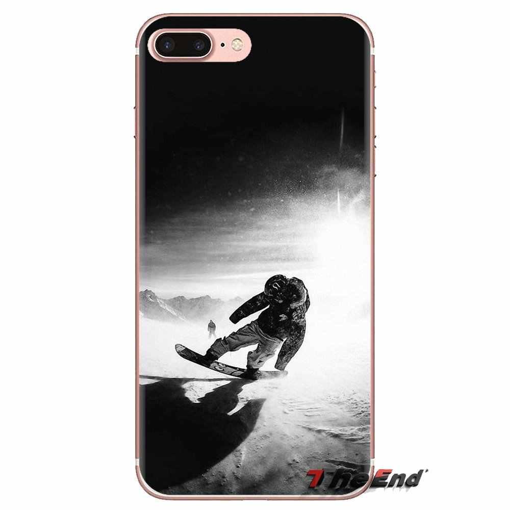 For Samsung Galaxy S3 S4 S5 Mini S6 S7 Edge S8 S9 S10 Plus Note 3 4 5 8 9 Soft Transparent Cases Snow Or Die Ski Snowboard Sport