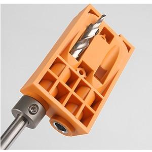 Image 3 - Pocket Gat Jig Kit Systeem Houtbewerking Geneigd Gat Locator Puncher Locator W/Stap Boor & Accessoires