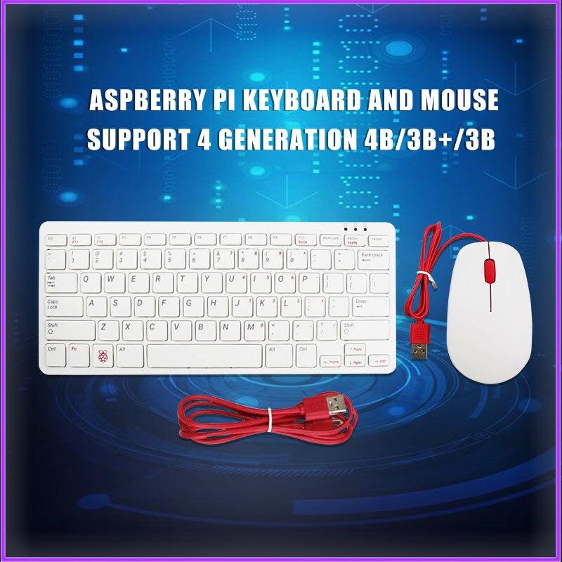 Raspberry Pi Keyboard Mouse Supports Raspberry Pi 4B/3B+/3B