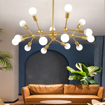 Nordic Modern Chandelier lighting Led Lamp 110V220V Industrial Ceiling Chandeliers Lighting Living Room Bedroom Light Fixtures american country pastoral living room chandelier led lamp bedroom iron chandelier lighting rose chandeliers